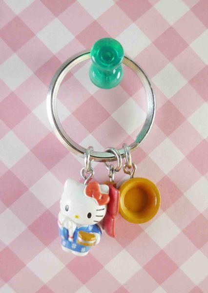 【震撼精品百貨】Hello Kitty 凱蒂貓~鎖圈-溫泉