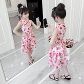 女童洋裝 夏裝2020新款洋氣兒童碎花雪紡裙子小女孩夏季韓版童裝