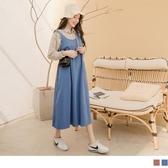 《MA0345》純棉後大U領口袋孕婦背心裙/孕婦洋裝 OrangeBear