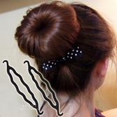 丸子頭花苞頭雙勾盤髮器 盤髮器 美髮工具 髮飾