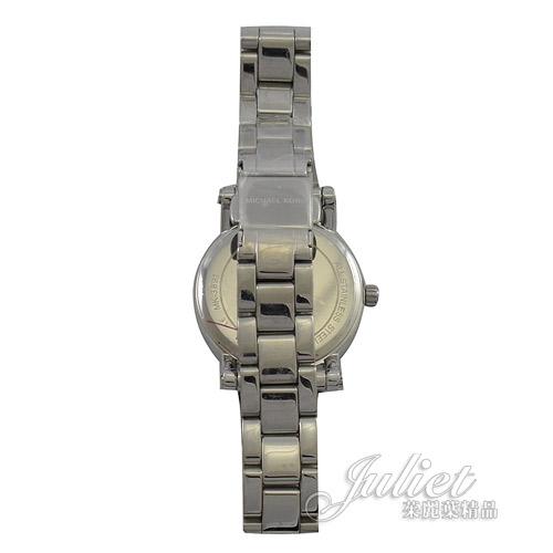 茱麗葉精品【現貨優惠】MICHAEL KORS MK3891 水晶鑽框不鏽鋼腕錶.銀