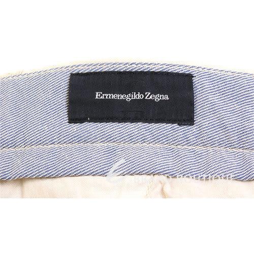 Ermenegildo Zegna 抓褶休閒長褲(卡其色) 0620279-02