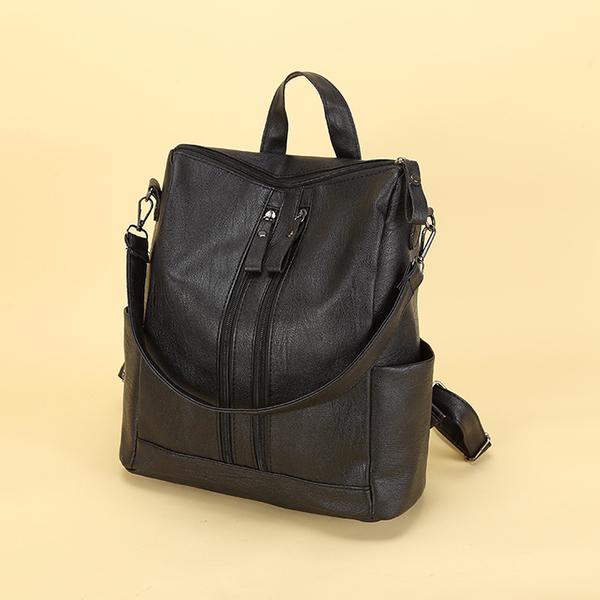 後背包冬季包包潮背包女後背包旅行大容量防水軟皮書包簡約輕便女包 免運