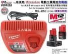 【久大電池】 米沃奇 Milwaukee 電動工具電池充電器 M12 充電器 48-59-2401 12V 鋰電池 專用