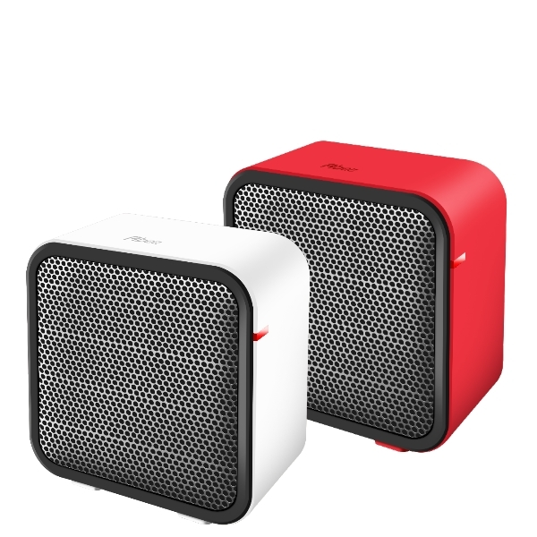 Abee快譯通迷你型陶瓷快速電暖爐小太陽暖風機取暖器傾倒自動斷電電暖器溫暖紅PTC-MINI-R