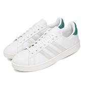 adidas 休閒鞋 Grand Court 白 灰 綠 男鞋 運動鞋 皮革鞋面 【ACS】 EG7890