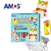 AMOS 10色小狗貓咪壓克力模型板DIY玻璃彩繪組