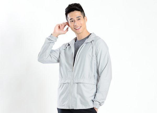 UV100 防曬 抗UV-涼感透氣率性立領外套-男