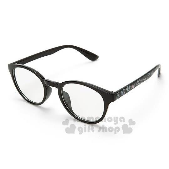 〔小禮堂〕Hello Kitty 透明鏡片抗UV太陽眼鏡《黑膠框.塗鴉》墨鏡.2019夏日大人服飾 4901610-31157