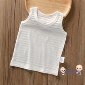 運動背心 夏裝薄款竹節棉質男童中小童寶寶嬰兒小孩無袖t恤工字背心純色款 1色