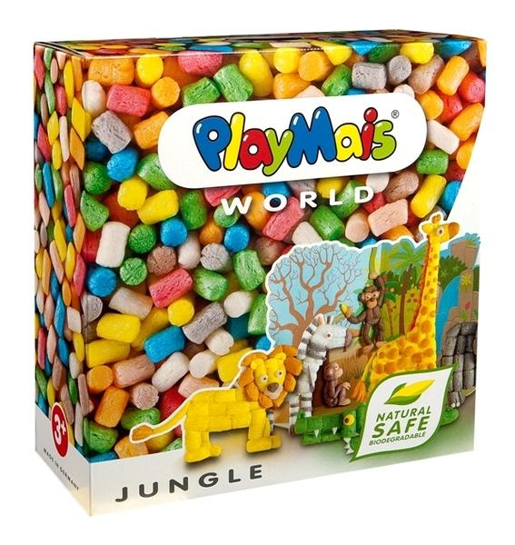 德國PlayMais 玩玉米創意黏土主題禮盒-動物叢林