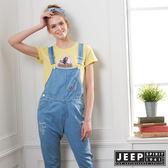 【JEEP】女裝 舒適休閒牛仔吊帶褲