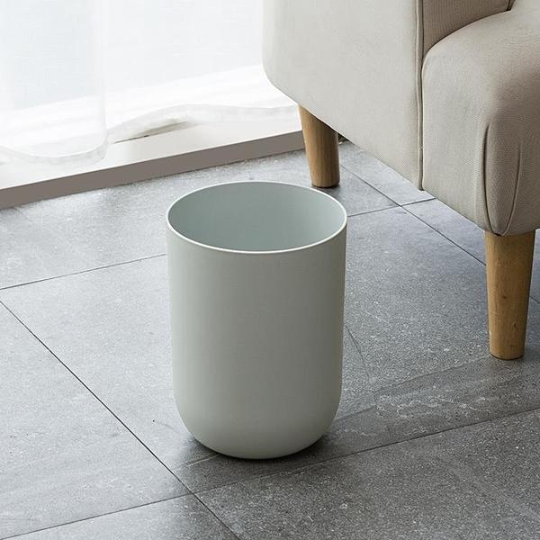 北歐創意簡約素色垃圾桶家用桌面無蓋衛生桶環保雜物桶 安妮塔小铺