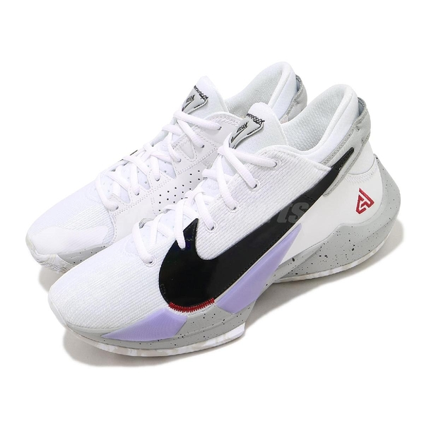 Nike 籃球鞋 Zoom Freak 2 EP White Cement 白 黑 男鞋 大理石潑墨 字母哥 二代 運動鞋 【ACS】 CK5825-100