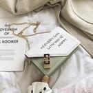 新品鍊條包小包包女2020新款韓版洋氣百搭側背包學生撞色時尚鍊條斜背小方包