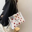 斜背包 包包女2021新款潮質感高級感小眾透明百搭時尚洋氣夏季果凍斜背包 晶彩 99免運