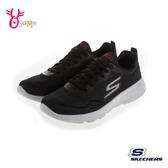 Skechers運動鞋 男款 GORUN 柔軟瑜珈墊運動鞋 輕量慢跑鞋 黑X紅 T8274#黑色◆OSOME奧森鞋業