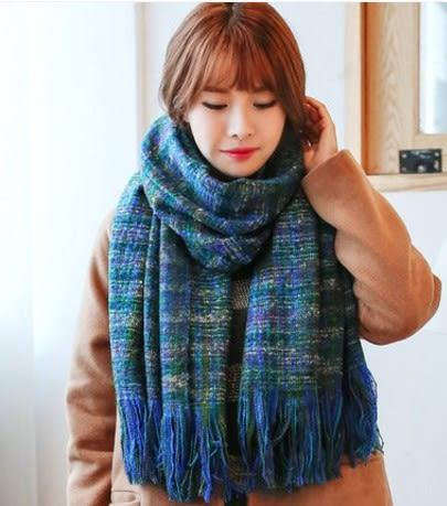 [協貿國際]  女士秋冬季學生混色加厚保暖圍巾披肩 (1入)