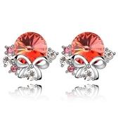 水晶耳環 925純銀(耳針式)-經典鑲鑽生日聖誕節交換禮物女飾品3色73bd100[時尚巴黎]