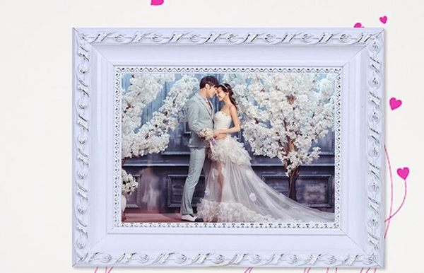 歐式實木相框10 16 18 20 24 寸A3 A4婚紗照片框擺台挂牆定制畫框SSJJG【時尚家居館】
