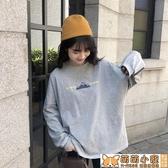 長袖T恤女-初秋新款韓版寬鬆百搭白色長袖T恤女ins潮洋氣打底衫上衣學生 交換禮物