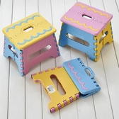 加厚款塑料折疊小板凳便攜式創意手提小凳子兒童坐凳家用成人矮凳-完美