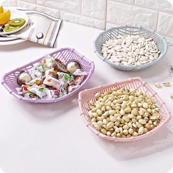 創意鏤空水果籃客廳塑料零食盤水果盤糖果籃廚房簡約蔬菜籃果籃