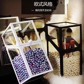 玻璃美妝刷具桶透明化妝刷筒桌面化妝品收納【聚寶屋】