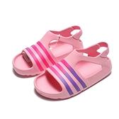 ADIDAS ADILETTE PLAY I 粉 紫 涼鞋 橡膠 小童 (布魯克林) CG6598