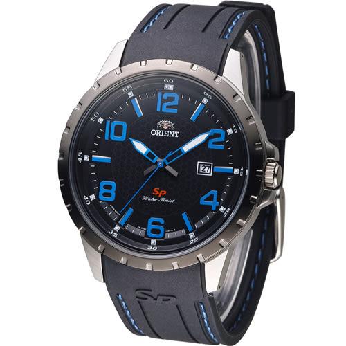 東方錶 ORIENT 明日之星時尚腕錶 FUNG3006B 黑x藍