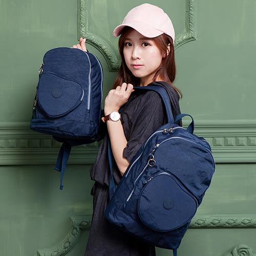 COUNT DUCK 美系悠活輕量愛心輕旅親子後背包-2件組-海軍藍