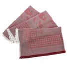 ARMANI COLLEZIONI千鳥格紋流蘇薄披肩圍巾(酒紅色)102805-1