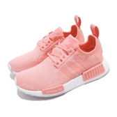 adidas 休閒鞋 NMD_R1 J 粉紅 白 大童鞋 女鞋 運動鞋 襪套式 【ACS】 EG7925