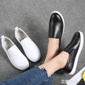 2019秋季新款韓版百搭樂福鞋女鞋子平底皮鞋一腳蹬懶人秋款豆豆鞋『艾麗花園』