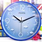 掛鐘時鐘超靜音歐式電子時鐘石英掛鐘表個性...