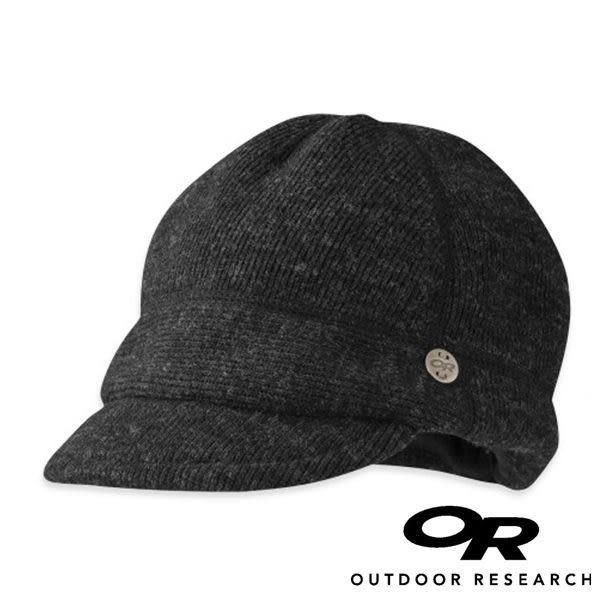 【OR 】Outdoor Research Flurry 女造型保暖羊毛帽 黑 休閒 旅遊 戶外 遮陽帽 鴨舌帽 243640