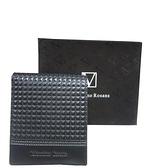~雪黛屋~Velamtino 短夾專櫃男仕短夾100%進口牛皮革標準尺寸活動證件夾品牌高級禮盒BV01110360
