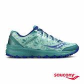 SAUCONY CALIBER TR 戶外越野鞋款-湖水綠X藍x潑墨