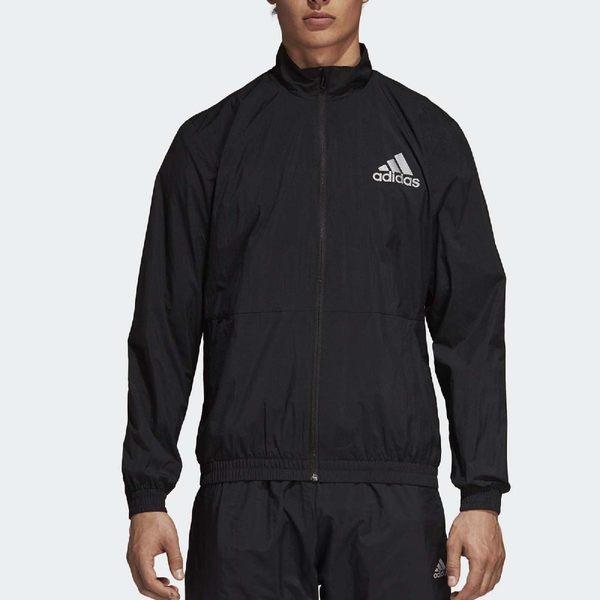 adidas 防風外套 ID Wind Track Jacket 黑 白 左胸Logo 反光 男款 【PUMP306】 CY9880