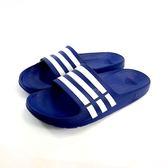 男款ADIDAS DURAMO SLIDE 超輕量防水運動拖鞋《7+1童鞋》7001藍色