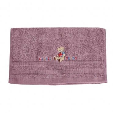 Classic Teddy精典泰迪-泰迪彩字素面毛巾(紫)