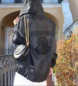 ★專櫃57折! Dolce & Gabbana BB6433 WIFI 中款小牛皮鈴鼓金鍊包 黑色