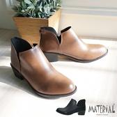 短靴 雙邊側V鏤空短靴 MA女鞋 T7822