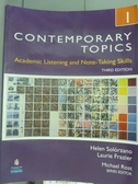 【書寶二手書T7/語言學習_PGP】Contemporary Topics 1_Solorzano, Frazier_3