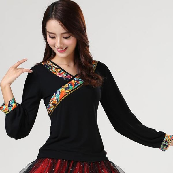 國標舞衣春夏莫代爾廣場舞舞蹈上衣短袖跳舞衣服女新款七分中袖表演舞蹈服第七公社