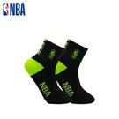 NBA 平版襪 MIT 運動配件 LogoMan時尚刺繡短襪 (黑/綠)