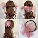 盤髪器 甜美花朵盤髮器女韓式簡約扎半丸子頭神器蓬松懶人花苞頭髮夾頭飾