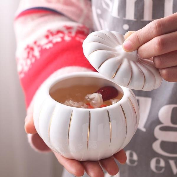 陶瓷燕窩燉盅碗帶蓋隔水燉盅