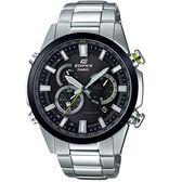 CASIO卡西歐EDIFICE雙錶盤太陽能電波腕錶  EQW-T640YDB-1A