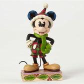 《Enesco精品雕塑》迪士尼米奇聖誕塑像-Merry Mickey(Disney Traditions)★funbox生活用品★_EN84881